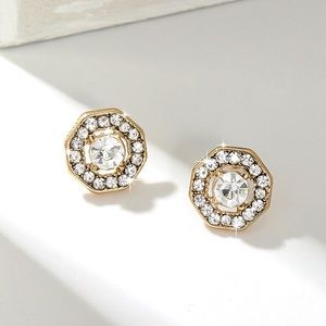 3/$30 - Gold & Crystal Stud Earrings